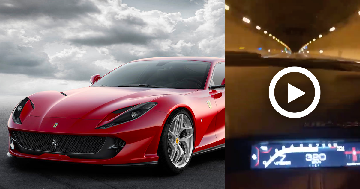 Ferrari 812 Superfast : 320 km/h dans un tunnel d'Ile de France